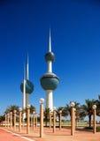科威特城的结构上图标 免版税图库摄影
