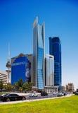 科威特城的美丽的摩天大楼 免版税库存照片