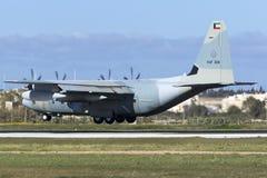 科威特C-130J赫拉克勒斯 免版税库存照片