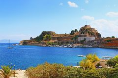 科孚岛堡垒希腊 免版税库存照片