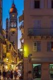 科孚岛市,希腊- 2011年7月6日:T的圣徒Spyridon教会  库存照片