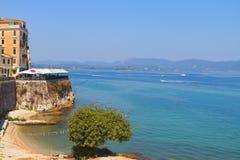 科孚岛海岛在希腊 库存图片
