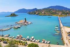 科孚岛海岛视图希腊 库存照片