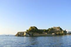 科孚岛镇老威尼斯式堡垒 免版税库存照片