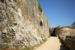 科孚岛,希腊新的堡垒  免版税库存照片