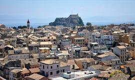 科孚岛,希腊,欧洲镇  免版税图库摄影