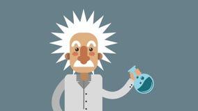 科学与实验室烧瓶HD动画 库存例证