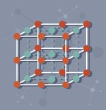 科学分子结构 免版税库存照片