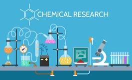 科学化学制品实验室 向量例证