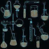 科学化学实验室传染媒介背景概略样式 皇族释放例证