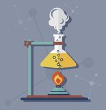 科学化学实验 免版税库存照片