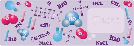 科学化学横幅 蓝色云彩图象彩虹天空向量 库存图片