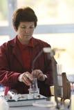 科学和化学教师纵向 免版税库存图片