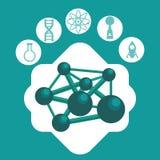 科学和化学设计 免版税库存照片