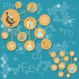 科学和教育科学研究实验室化学制品 向量例证