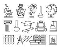 科学和教育稀薄的线象 库存例证