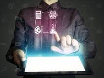 科学和教育联机服务的概念 免版税库存图片