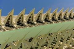 科学和艺术巴伦西亚市:与独特的几何01的未来派大厦 库存图片