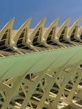 科学和艺术巴伦西亚市:与独特的几何02的未来派大厦 库存图片