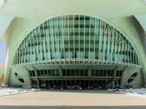 科学和艺术巴伦西亚市:与独特的几何03的未来派大厦 库存图片
