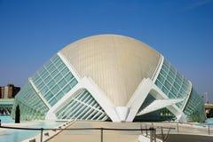 科学和艺术巴伦西亚市:与独特的几何09的未来派大厦 免版税库存照片