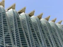科学和艺术巴伦西亚市:与独特的几何05的未来派大厦 免版税库存图片