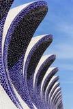 科学和艺术巴伦西亚市:与独特的几何06的未来派大厦 库存图片