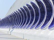 科学和艺术巴伦西亚市:与独特的几何07的未来派大厦 免版税库存图片