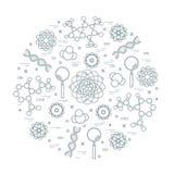 科学品种风格化传染媒介的象,教育元素 向量例证