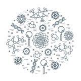 科学品种风格化传染媒介的象,教育元素 库存例证