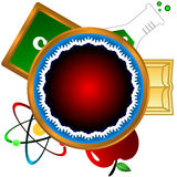 科学图标 免版税库存照片