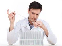 科学实验。 库存照片