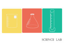 科学实验室传染媒介象集合,化工象设置了,化工实验室,化工玻璃器皿 传染媒介例证,平的设计 库存照片