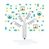 科学实验室摘要概念,测试的想法 免版税库存图片