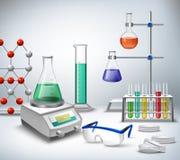 科学实验室背景 免版税图库摄影