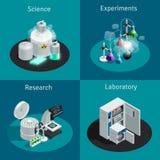 科学实验室2x2等量设计观念 向量例证