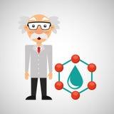 科学家化学概念下落水 免版税库存照片