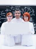 科学家在化学实验室 库存图片