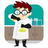 科学家在实验室里 库存例证