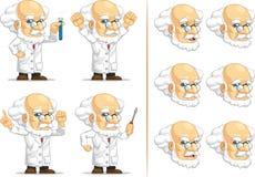 科学家或Customizable Mascot教授 库存图片