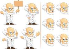 科学家或Customizable Mascot 8教授 图库摄影