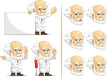 科学家或Customizable Mascot 5教授 库存图片