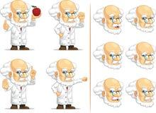 科学家或Customizable Mascot 9教授 库存图片