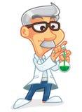 科学家漫画人物 库存照片