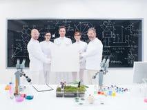 科学家队在实验室 免版税图库摄影