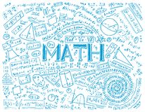 科学惯例和演算在物理和数学在whiteboard 代数和几何教训  向量例证
