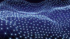 科学或Blockchain数字背景  股票录像