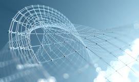科学技术背景 事务和连接 库存图片