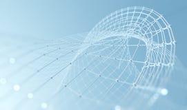 科学技术背景 事务和连接 免版税图库摄影