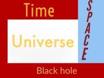 科学时空Univers黑洞 免版税库存照片
